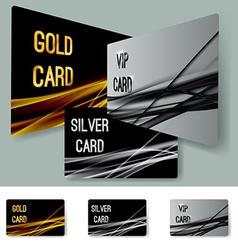Premium membership partner swoosh line layout vector image