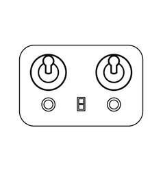 remote control black color icon vector image vector image