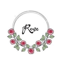 roses frame vector image