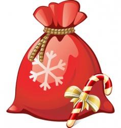 Santa sack vector image vector image