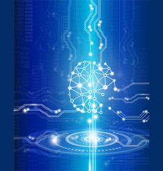 science and technology conceptdigital brain vector image vector image