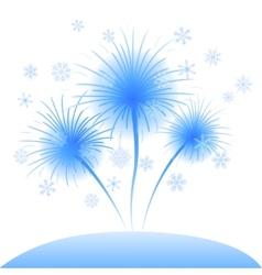 Snowflakes flowers dandelions vector