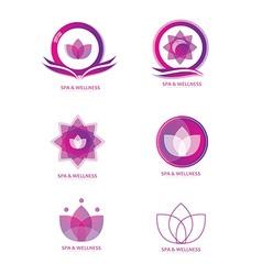 Spa logo icon set vector