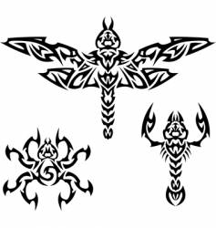 tattoo insects vector image vector image