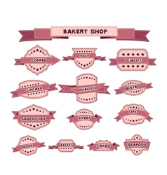 Vintage bakery badges and labels vector