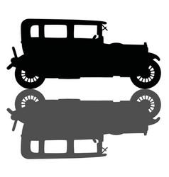 Vintage personal car vector