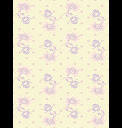 Vintage wallpaper seamless rose flower pattern vector image