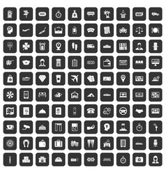 100 paying money icons set black vector