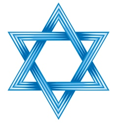 Star of david - symbol of israel vector image