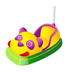 icon amusement park car vector image