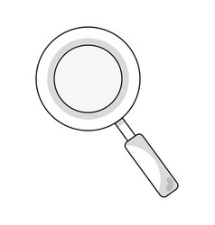 Line magnifying glass symbol to search and vector