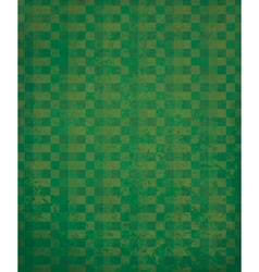 Green checked pattern vector