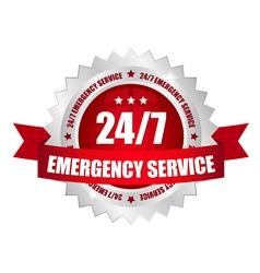 24-7 emergency service button vector