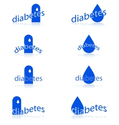 Diabetes icons vector