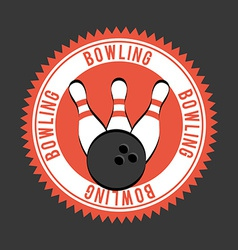 Bowling design vector