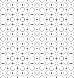Gray ornament with dark gray pointy squares vector