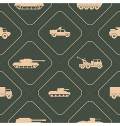 Seamless background with army vehicle vector