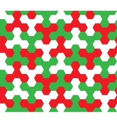 Seamless geometric pattern christmas ornament vector