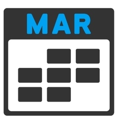 March flat icon vector
