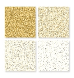 A square gold cards vector