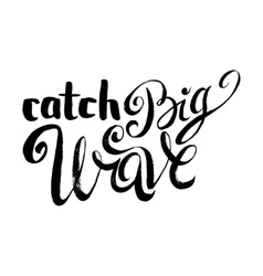 Catch big waves vector