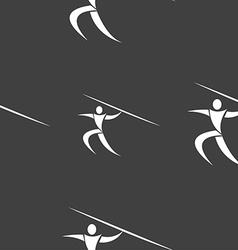 Summer sports javelin throw icon sign seamless vector