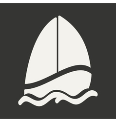 Flat in black and white mobile application sailing vector