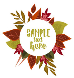 Autumn leaves decoration vector