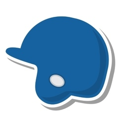 Baseball helmet protection equipment icon vector