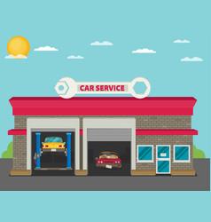 Car service flat vector