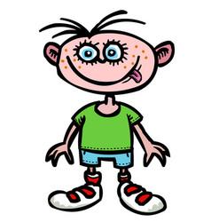 Cartoon image of child icon children symbol vector