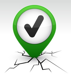 Check green icon in crack vector