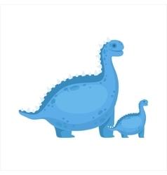 Chubby blue iguanodon dinosaur prehistoric monster vector