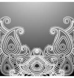 delicate paisley vector image vector image