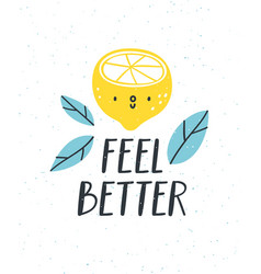 Feel better vector