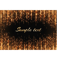 gold frame with shiny rays vector image vector image