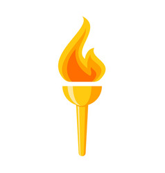 golden torch icon vector image vector image