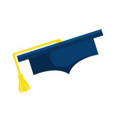 Hat graduation isolated icon vector