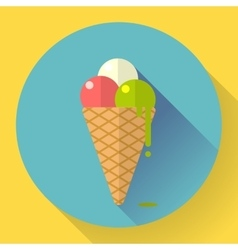 Ice Cream icon Flat designed style vector image