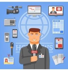 Journalist Concept vector image vector image