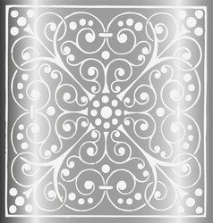 Luxury vintage floral gray silver background vector