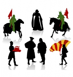 Medieval people vector