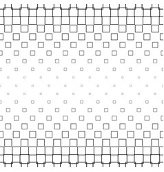 Monochrome square pattern - geometric background vector