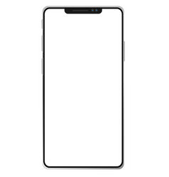 New phone x on white background smartphone 8 vector