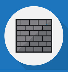 Of security symbol on brick vector