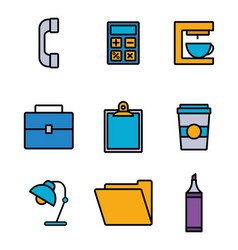 Office and business concept vector