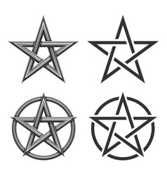 pentagram symbol collection vector image vector image