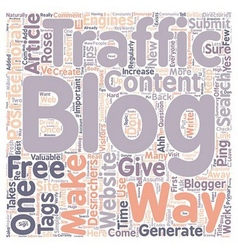 Rose Desrochers s Tips How Do You Generate Traffic vector image vector image