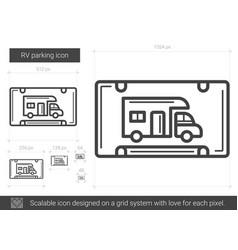 Rv parking line icon vector
