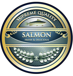 Salmon gold icon vector